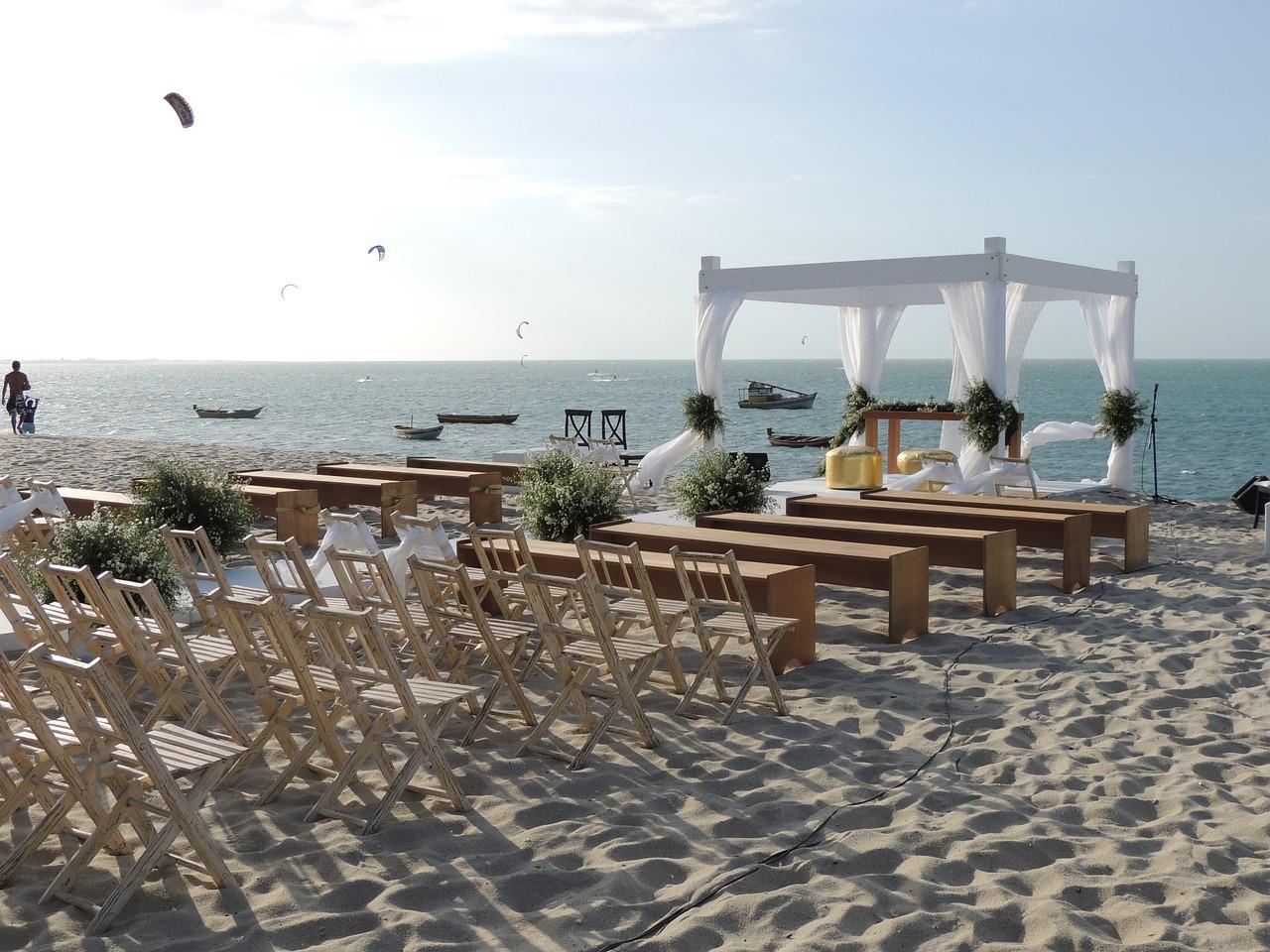 ceremonija vjenčanja na plaži