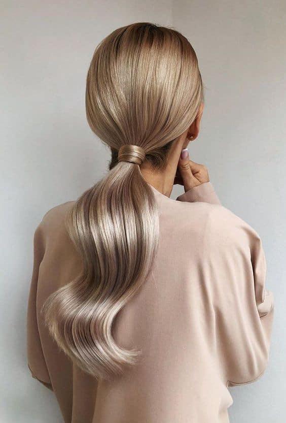 wedding ponytail